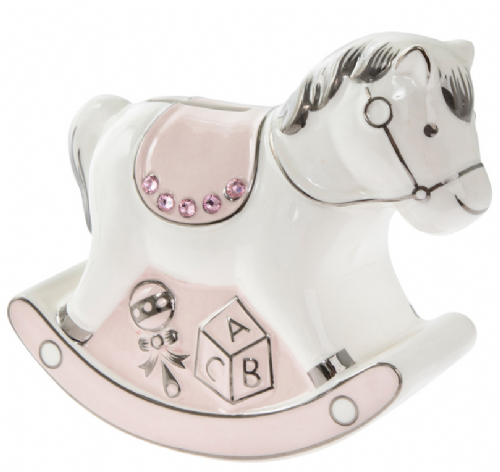 Rocking Horse Money Bank Pink